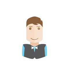 Waiter avatar vector