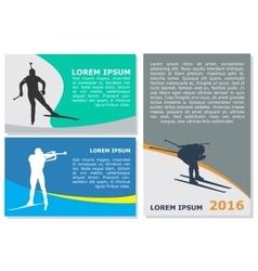 Biathlon flyer template vector