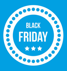 Black friday sticker icon white vector