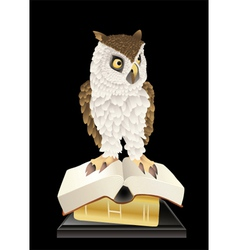 Book smart owl vector