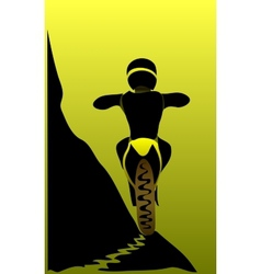 Brave Motorcyclist vector image