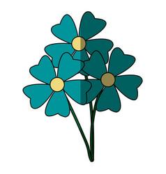 Bunch flower petal decoration natural ornament vector