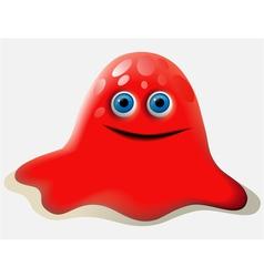 Cartoon red creature vector image vector image