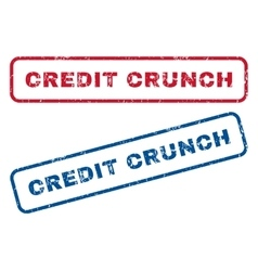 Credit crunch rubber stamps vector