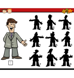 education shadows game cartoon vector image vector image