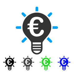Euro innovation flat icon vector
