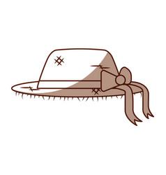 female farmer hat icon vector image vector image