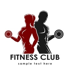 Fitness Emblem vector image vector image