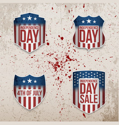 fourth of july patriotic banners set vector image vector image