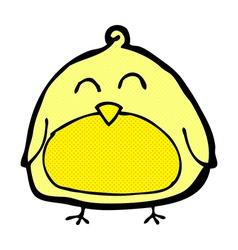 Funny comic cartoon bird vector