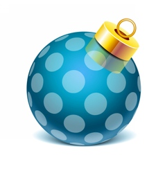 Glass sphere christmas toy vector