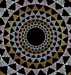 Gold mandala decoration in tribal art style vector image
