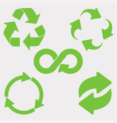 green recycle icon vector image vector image