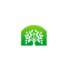 green tree ecology plant logo vector image