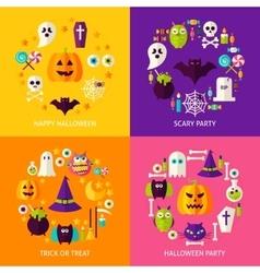 Halloween holiday concepts set vector