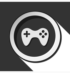 Icon - game pad with shadow vector