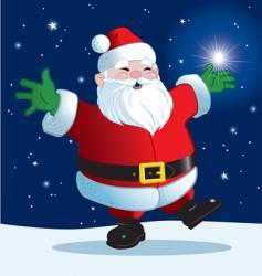 joyful santa vector image