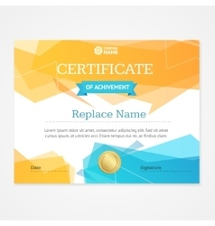 Modern Certificate Template Horizontal vector image vector image