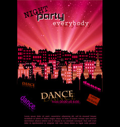 night city background for your poster and flyer vector image vector image