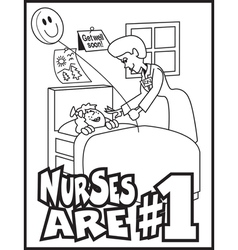 Nurses number one vector image vector image