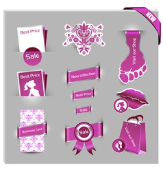 pink labels for women shop vector image