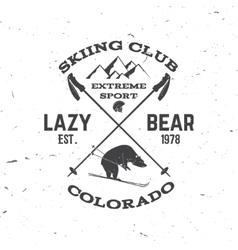 Ski club concept vector