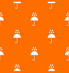 Umbrella and rain drops pattern seamless vector