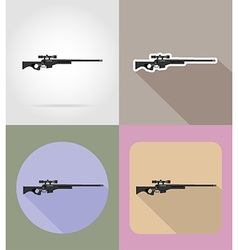weapon flat icons 13 vector image vector image
