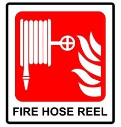 Fire hose reel sign vector image