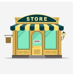 Street shop small store front vector