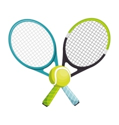 tennis racket equipment icon vector image