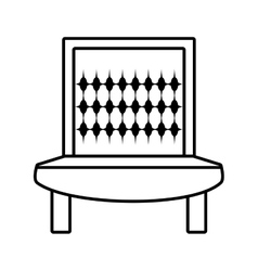 Sofa furniture house relax outline vector