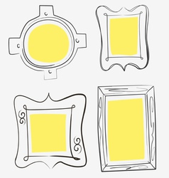 Art yellow frames vector