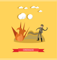 grenade concept in flat style vector image
