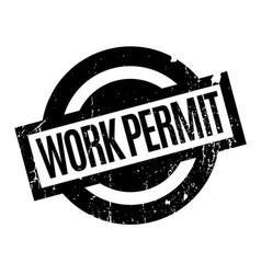 Work permit rubber stamp vector