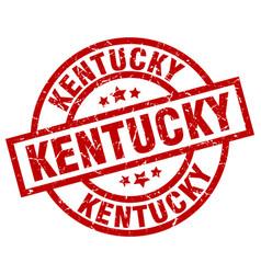 Kentucky red round grunge stamp vector