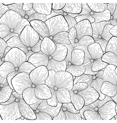 Seamless pattern with black and white flowers vector