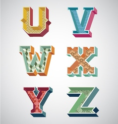Alphabet retro vector