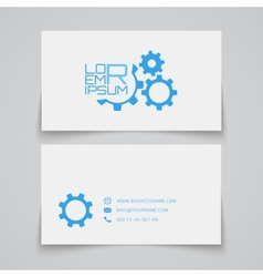 Business card template gears concept logo vector