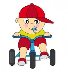 boy bike vector image