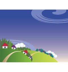Countryside landscape vector