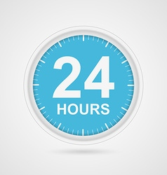 24 hours customer service icon vector