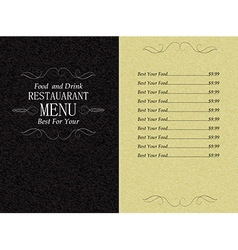 Restaurant food and drink menu vector
