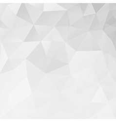 Abstract white geometric triangle background vector