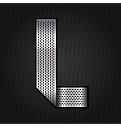 Letter metal chrome ribbon - L vector image