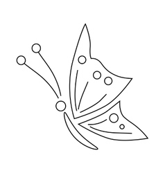 Butterfly icon outline style vector