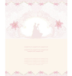 Ballroom dancers - invitation vector image