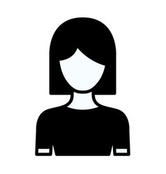 Black silhouette thick contour of faceless half vector