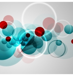 Bright circles geometric background vector image vector image