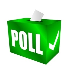 Cast your vote poll box for votes vector